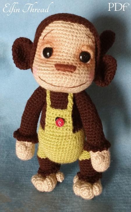 Naimba and Namboro, the Baby Monkeys Amigurumi PDF Pattern ...