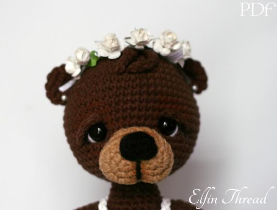 Bonbon the Ballerina Bear Amigurumi PDF Pattern Elfin Thread