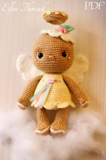 Amigurumi Angel Doll : Vintage Gingerbread Angel Doll Amigurumi PDF Pattern ...