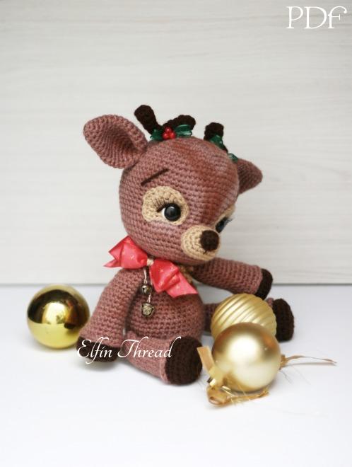 Christmas Reindeer Amigurumi : Ritva the Christmas Reindeer Amigurumi PDF Pattern Elfin ...