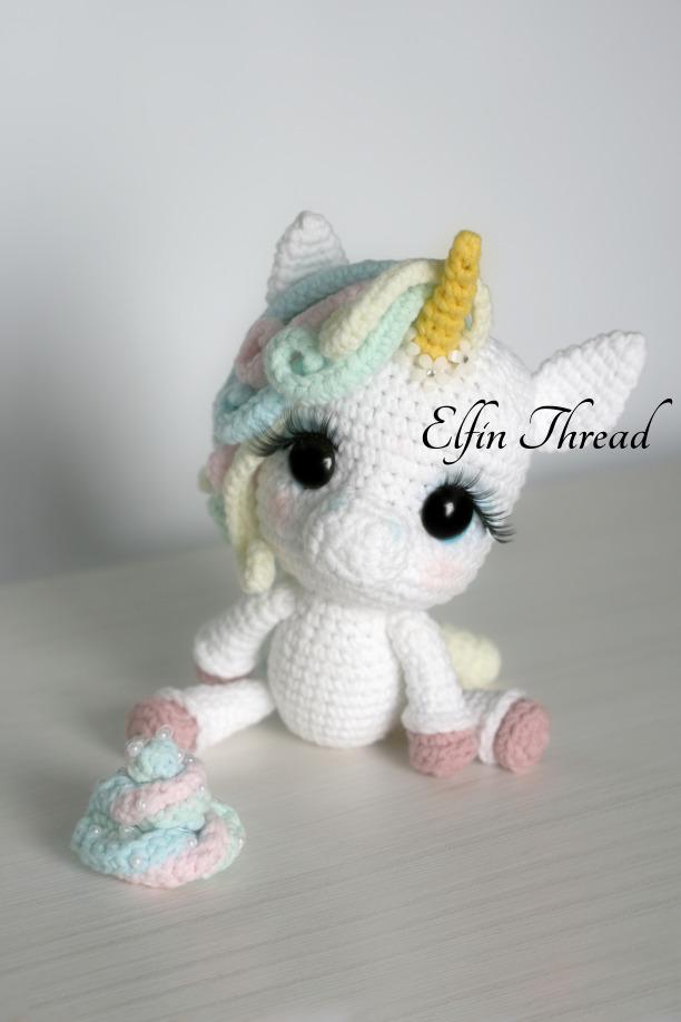 Amigurumi Unicornio Gru : Lily rainbow cheeks the unicorn amigurumi pdf pattern
