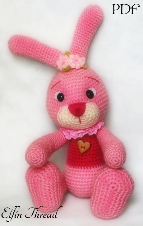 Connie the Easter Bunny Amigurumi PDF Pattern Elfin Thread