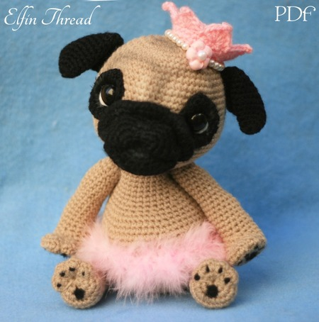 There's nothing cuter than a baby pug... - Amigurumi Today - Free ... | 454x450