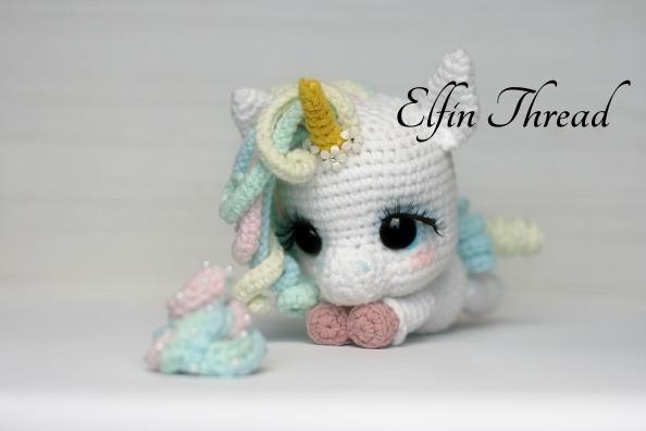 Eunice the Unicorn amigurumi pattern - Amigurumipatterns.net | 396x594